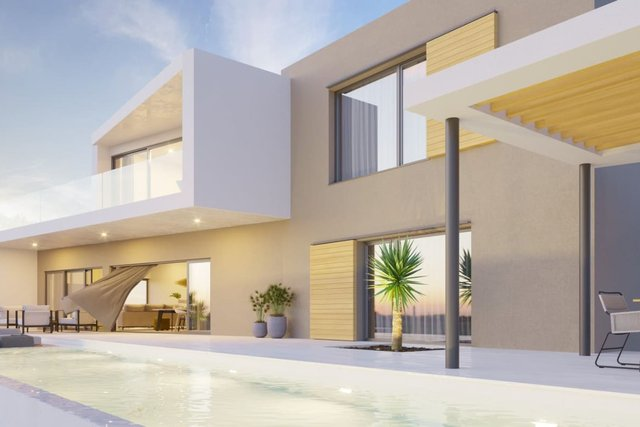 This luxury villa of 332.92m2 of comfort and luxury