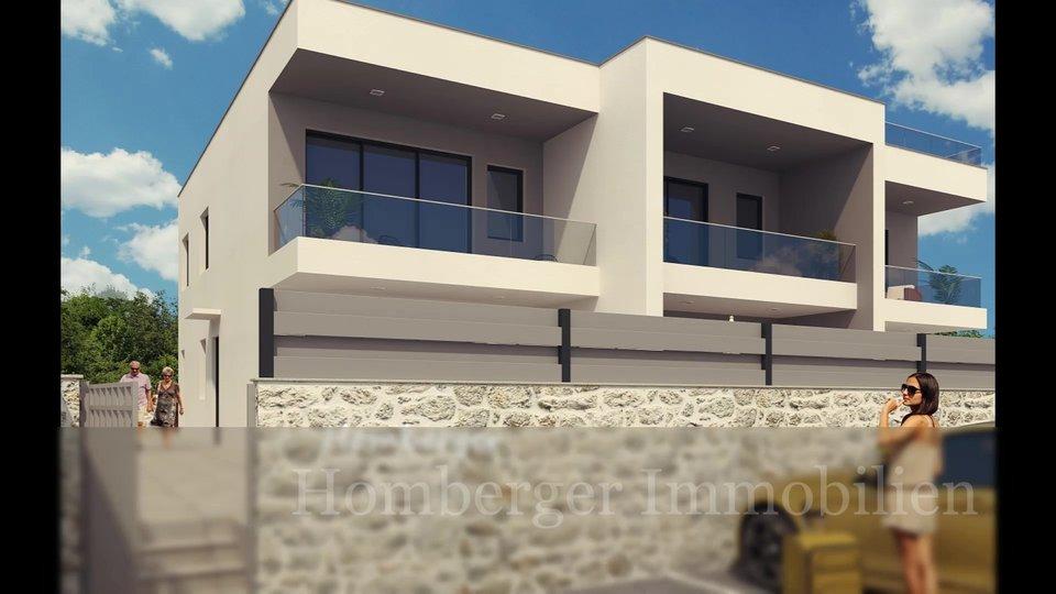 Moderna kuća u nizu sa bazenom 350m do mora -plaže